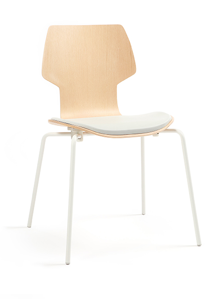 Gracia stackable chairs with arms